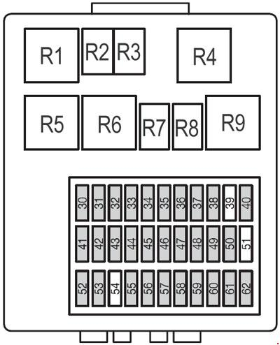Ford Focus Fuse Box Diagram Passenger  partment on 2001 ford focus fuse box diagram