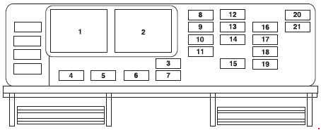 Ford Freestar (2003 - 2007) - fuse box diagram - Auto Genius