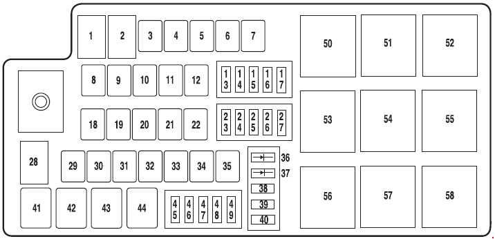 Ford Taurus  2007 - 2009  - Fuse Box Diagram
