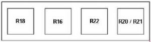 Ford Transit - fuse box diagram - alternative relay box