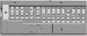 Ford Transit - fuse box diagram - body control module fuse box (2.0l diesel)