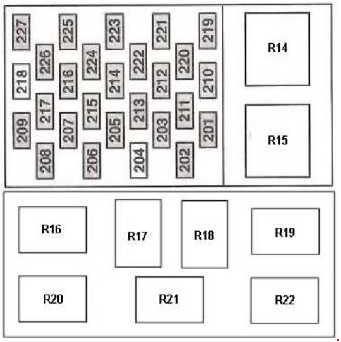 ford transit (2000 - 2006) - fuse box diagram - auto genius 2001 ford transit fuse diagram