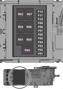 Ford Transit - fuse box diagram - prefuse box (2.0l diesel)