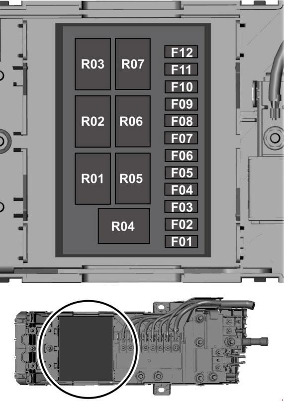 Ford Transit  2014 - 2018  - Fuse Box Diagram