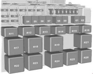 Ford Transit - fuse box diagram - standard relay box