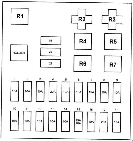 hyundai h100  1997  - fuse box diagram