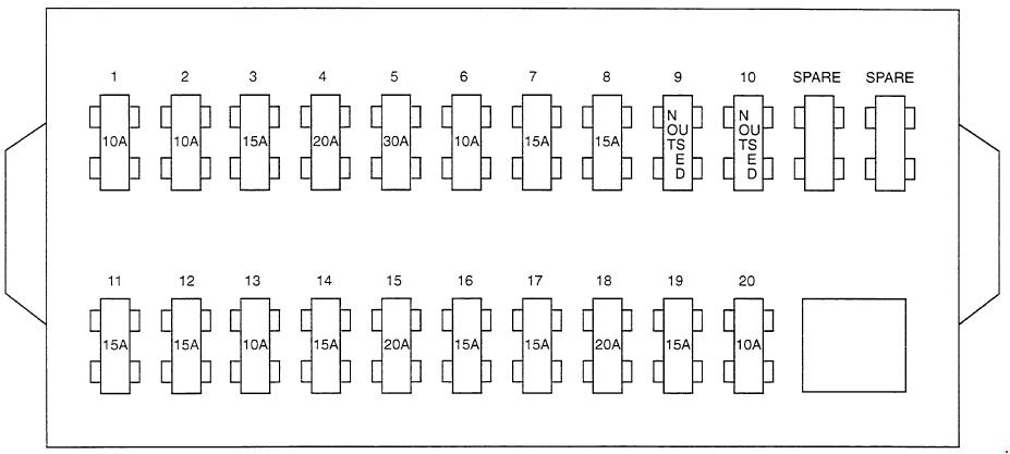 hyundai porter ah 1986 1996 fuse box diagram. Black Bedroom Furniture Sets. Home Design Ideas
