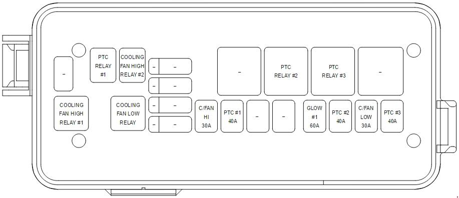 Kia Carnival Vq  2010 - 2014  - Fuse Box Diagram