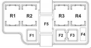 KIA Sportage3 (SL) - fuse box diagram - engine compartment (diesel)