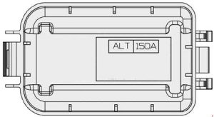 KIA Sportage3 (SL) - fuse box diagram - main box