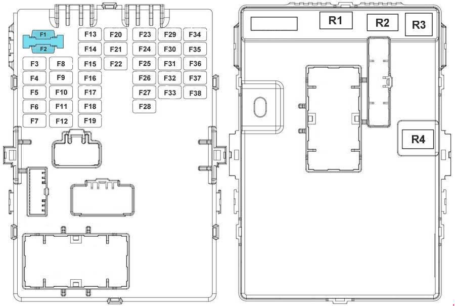 Kia Sportage 3  Sl   2010 - 2015  - Fuse Box Diagram