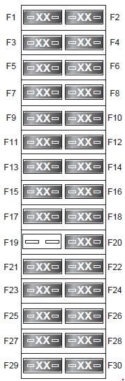 Land Rover Discover  2009 - 2016   U2013 Fuse Box Diagram