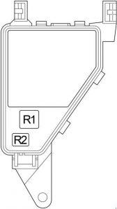 Lexus LS 430 - fuse box diagram - engine compartment relay box 1