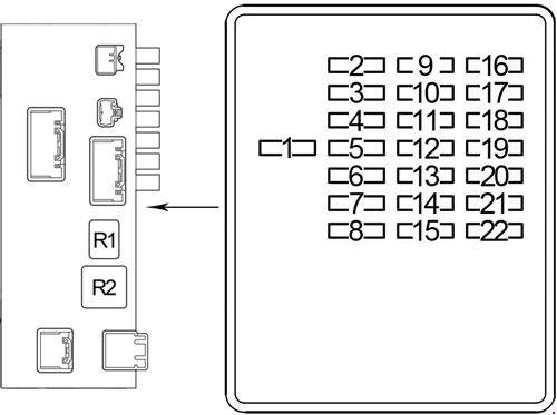 Lexus Ls 430  2000 - 2006  - Fuse Box Diagram
