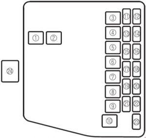 Mazda       323     fuse box    diagram     Auto Genius