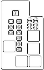 mazda 626 1997 2002 fuse box diagram auto genius. Black Bedroom Furniture Sets. Home Design Ideas