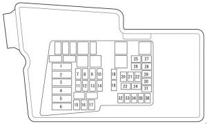 Mazda CX-7 - fuse box diagram - engine compartment