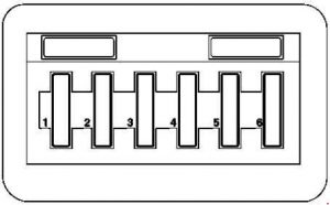 Mercedes-Benz A-Class w168 - fuse box diagram- light nodule fuse box