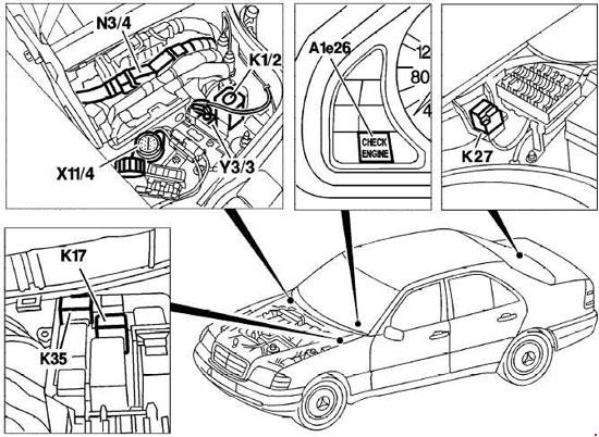 mercedes benz c240 fuse box  mercedes  auto fuse box diagram