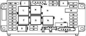 Mercedes-Benz C-Class w203 - fuse box diagram - engine compartment