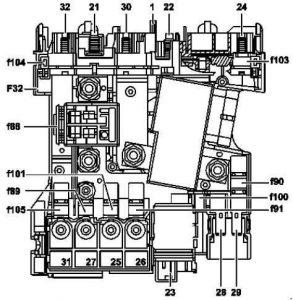mercedes benz c class w204 2007 2014 fuse box diagram. Black Bedroom Furniture Sets. Home Design Ideas