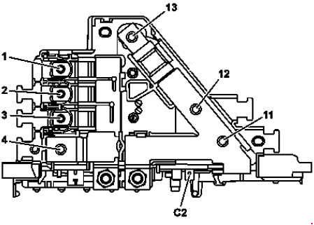 mercedes c350 engine diagram mercede-benz c-class w205 (2014 - 2018)- fuse box diagram ... #8