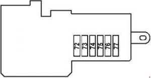 Mercedes-Benz CLS-Class w219 - fuse box diagram - prefuse box (rear)