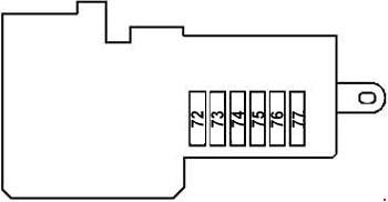 mercedes-benz cls-class w219 - fuse box diagram - prefuse box (rear