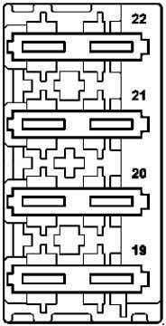 mercedes-benz e-class w212 - fuse box diagram - adblue fuse block