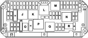 Mercedes-Benz E-Class w212 - fuse box diagram - engine compartment