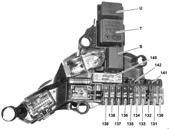 mercedes-benz e-class w212 - fuse box diagram - hybrid fuse and relay