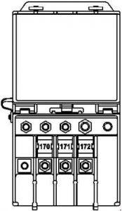 Mercedes-Benz E-Class w212 - fuse box diagram - rear prefuse box