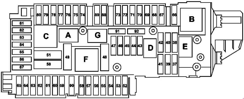 Mercedes-benz E-class W212  2009 - 2016  - Fuse Box Diagram