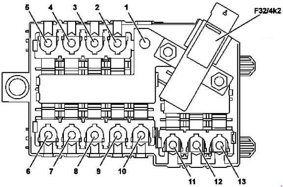 mercede-benz glc-class x253 - fuse box diagram