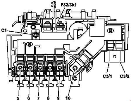 mercedes benz glc class x253 fuse box diagram auto genius. Black Bedroom Furniture Sets. Home Design Ideas