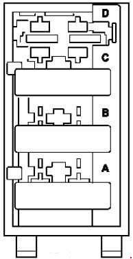 mercedes-benz ml w164 (2005 - 2011) - fuse box diagram ... mercedes gl fuse box #2