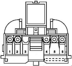 Mercedes-Benz SLK (R171) - fuse box diagram - front prefuse