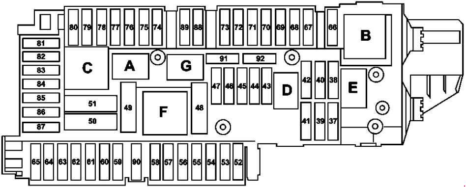 mercedes-benz slk  r172  2010 - present  - fuse box diagram