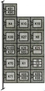 Mercedes Vito w638 - fuse box diagram - relay