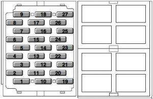 MG ZR (2001 - 2005) – fuse box diagram - Auto GeniusAuto Genius