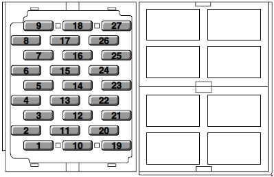 mg zr 2001 2005 fuse box diagram auto genius. Black Bedroom Furniture Sets. Home Design Ideas
