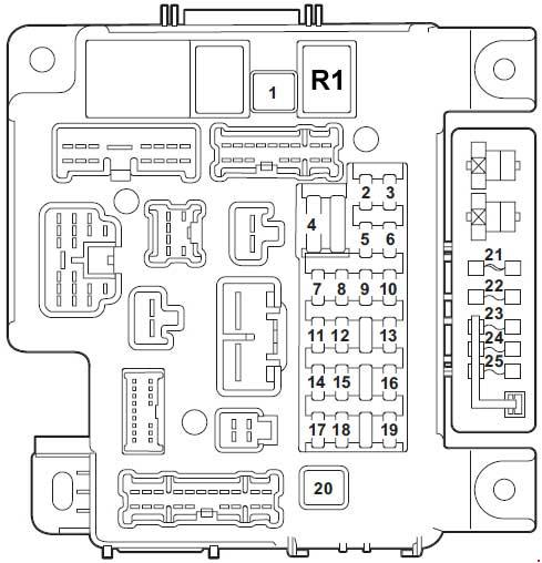 mitsubishi lancer (2007 - 2017) – fuse box diagram - auto ... outside fuse box wires stapling