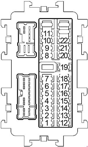 nissan murano  2002 - 2007  - fuse box diagram