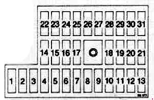 saab 900 1991 1994 fuse box diagram auto genius. Black Bedroom Furniture Sets. Home Design Ideas