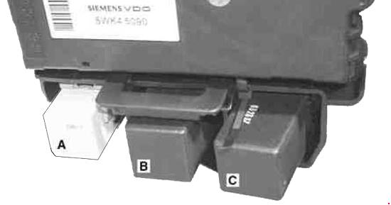 Smart Fortwo  A450  C450   2002- 2007  - Fuse Box Diagram