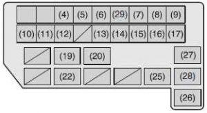 suzuki sx4 2006 2013 fuse box diagram auto genius. Black Bedroom Furniture Sets. Home Design Ideas