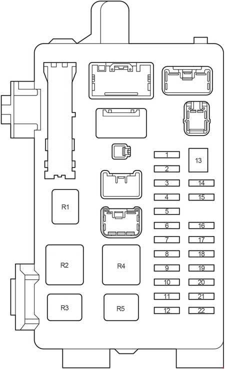 Toyota Avensis Verso  2000 - 2006  - Fuse Box Diagram