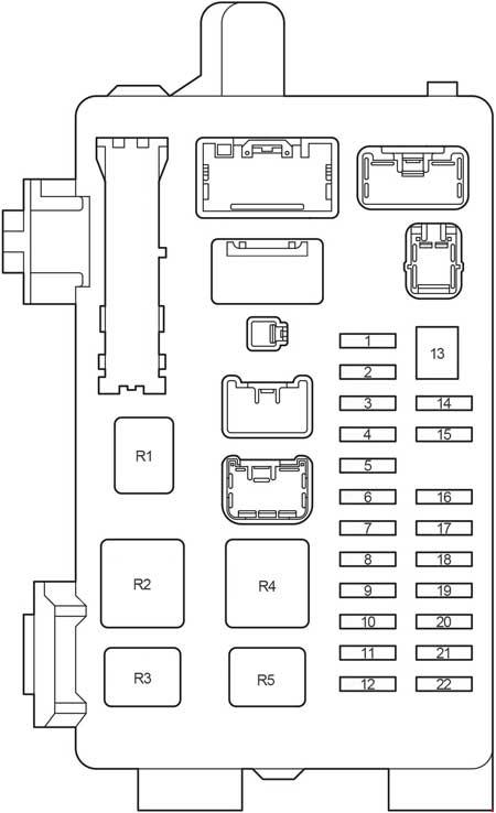 Toyota Picnic  2000 - 2006  - Fuse Box Diagram