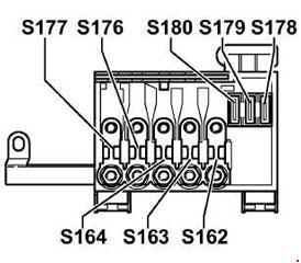 volkswagen bora  1999 - 2006  - fuse box diagram