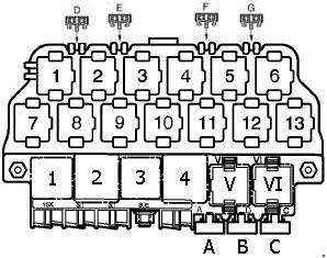 1999 jetta fuse and relay box diagram volkswagen bora (1999 - 2006) - fuse box diagram - auto genius 1993 jeep fuse and relay box